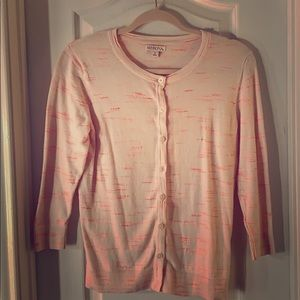 Light Pink and Coral Cardigan